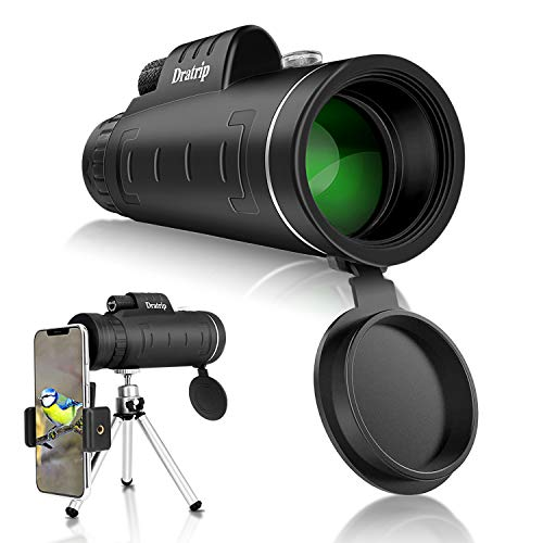 Monocular Telescope, 40X60 High Power HD Monocular with Smartphone Holder & Tripod, Waterproof Monocular with Durable and Clear FMC BAK4 Prism for Bird Watching, Camping, Hiking, Match