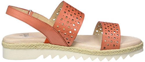 Caprice Damen 28612 Offene Sandalen mit Keilabsatz Orange (ORANGE NAPPA)