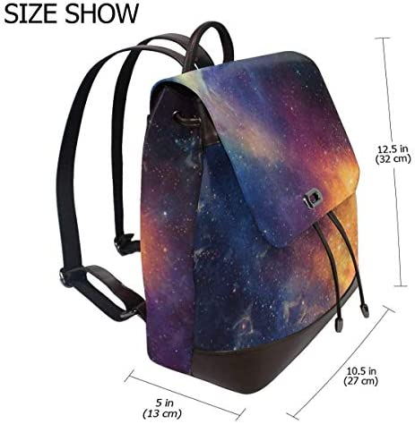 zaino da donna in pelle Galaxy Women Backpack Leather Backpack For Women Ladies Shoulder Bags Schoolbag Casual Daypack Backpack For Girls Fashion PU Travel bags