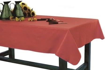 Mantel antimanchas Liso 100% algodón con protección de resina y Teflón de Dupont(R) (D140, Rojo): Amazon.es: Hogar