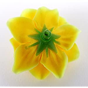 """(50) Silk Yellow Roses Flower Head - 1.75"""" - Artificial Flowers Heads Fabric Floral Supplies Wholesale Lot for Wedding Flowers Accessories Make Bridal Hair Clips Headbands Dress 5"""