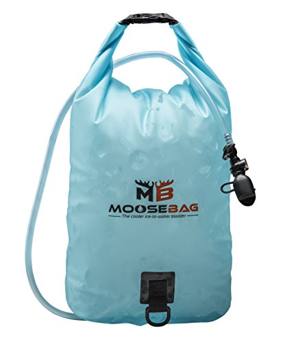 Ice Bladder Camping Coolers, Reusable/Freezable, Has Drinking Hose Bottle Filling Valve, Holds 20 Pound Bag Ice by Moose Bag