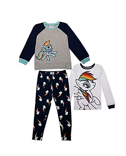 Character Girls' 3-piece Pajama Set (My Little Pony, 5) ]()