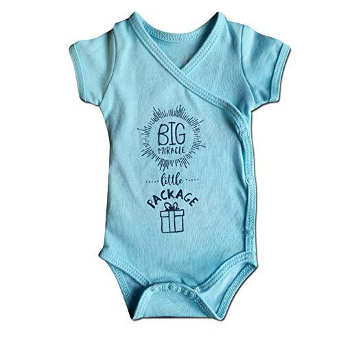 In His Hands Preemies Boys Preemie Onesie-100% Organic Cotton-Big Miracle Little Package NICU Nurse Approved Clothing