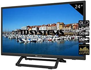 TD Systems - Televisor K24DLX10H, Smart TV 24 Pulgadas, 1X HDMI, VGA, USB, 800 PCI Hz, Grabador Reproductor, DVB-T2/C/S2, Modo Hotel, Negro: Amazon.es: Electrónica