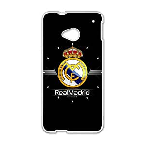 Real Madrid Design Plastic Case Cover For HTC M7