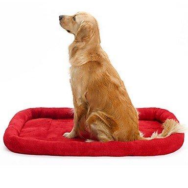 SDCXV Coperte dell'animale Domestico del Letto del Cane della stuoia di Sonno Caldo Molle (Rosso, L) Accogliente