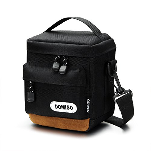 (DOMISO Digital Camera Case Compact System Mirrorless Protection Shoulder Bag for SONY / CANON / OLYMPUS / NIKON, Black)