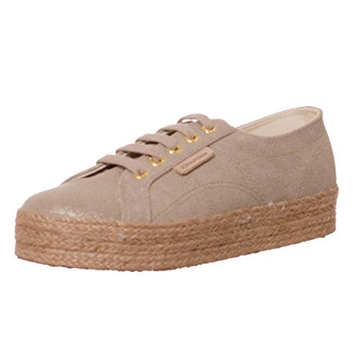 S00C4Y0 woman platform shoes with TYEDYECOTSHININGROPEW A50 SUPERGA 2730 Sand sneakers 5SwXfn5Wq