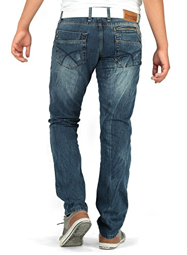 BlackRock Herren Jeans Destroyed Zip Jeanshose Stone Washed Normal Fit Hose  W33L32 ...