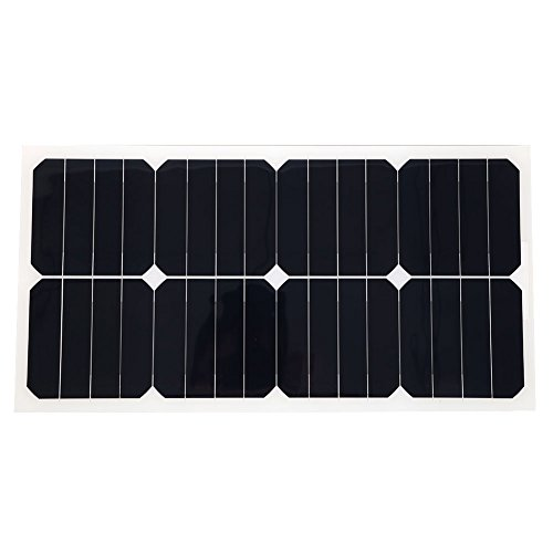 Cewaal 18V25W Flexible Boat Car Vehicle Auto SunPower Solar Energy Battery Panel For Outdoor Activity