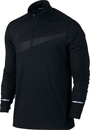 Nike Mens Element 1/4 Zip Running Top Shirt (Large, Black)