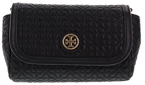 Tory Burch Bryant Quilted Leather Small Crossbody Handbag, Style No. 34029  (Black): Handbags: Amazon.com