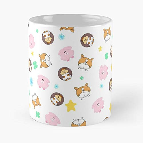 Animals Chubby Fat Round Funny Floral Coffee Mugs Gifts ()