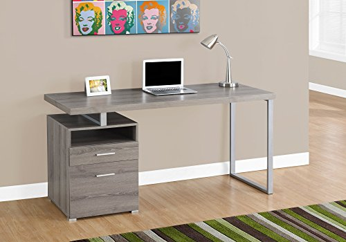 Monarch Metal Computer Desk, 60″, Dark