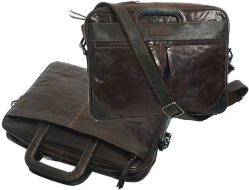 LANDLEDER étui porte-documents en cuir marron 568-25 sac à bandoulière pour ordinateur portable