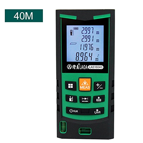 LAOA 131ft Portable Laser Distance Measure, High Precision Laser Measure with 4 Bubble Levels, Pythagorean Mode and Area, Volume Calculation and Range Finder/Digital Tape Measure