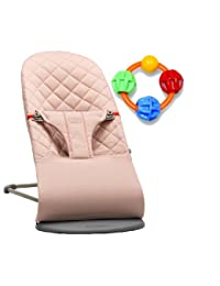 Baby Bjorn Bliss Bouncer - Old Rose with Click Clack Balls Teether BOBEBE Online Baby Store From New York to Miami and Los Angeles