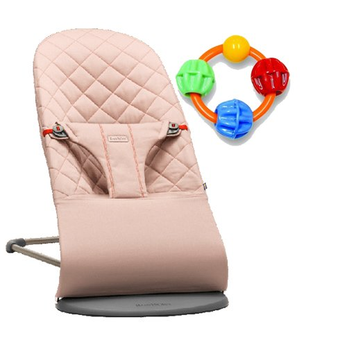 Baby Bjorn Bliss Bouncer - Old Rose with Click Clack Balls Teether by BabyBjörn