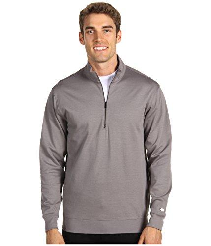 Nike Golf Men's Mercerized Half Zip Cover Up (Light Charcoal, X-Large)
