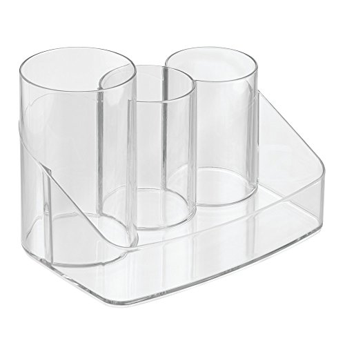 InterDesign Clarity Hair Care Organizer, Holder for Brushes and Accessories - Clear