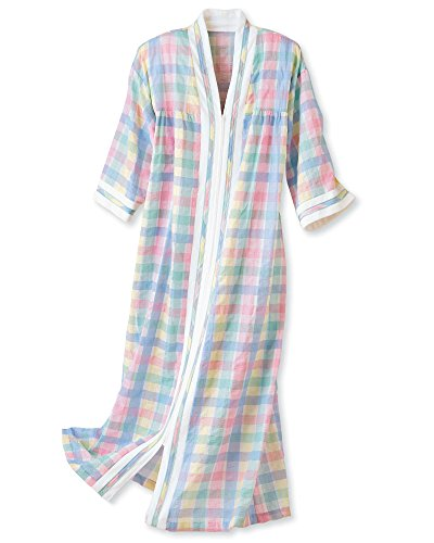 (National Plissé Robe, Multi, Large - Long )