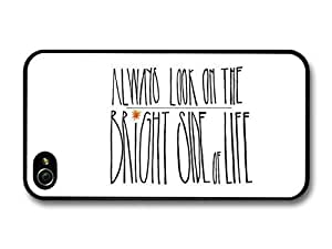 AMAF ? Accessories Always Look on the Bright Side of Life Monty Python Quote case for iPhone 4 4S