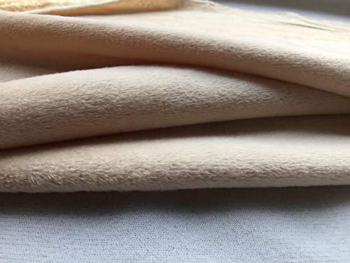 Maslin 50x50cm Super Soft Minky Fleece DIY Fabric Material 1 pcs, No-Fading,No-Pile Patchwork for Handmade Stuff Toy Teddy