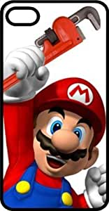 Excited Mario Hoisting His Pipe Wrench Black Rubber Case for Apple iPhone 5 or iPhone 5s