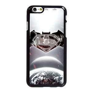 B3L40 Superman vs Batman U7E3MS funda iPhone 6 4.7 pufunda LGadas funda caja del teléfono celular cubren PU3HYA9DI negro