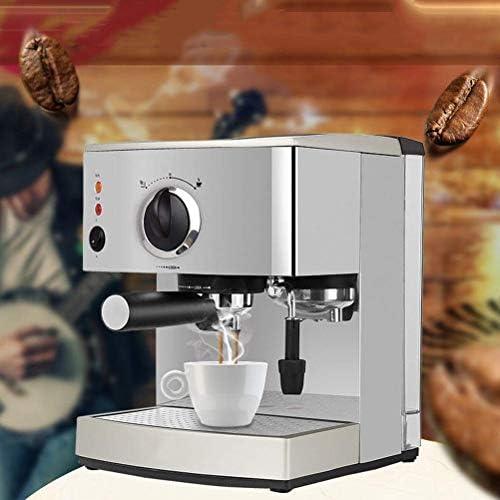 NLRHH Machine à café Espresso 15 Bar, Capuccino, Mousse mousser Le Lait, 920W, Capacité 1.5L Amovible Plateau d'égouttage Vapeur for Noze préparation de Boissons Chaudes Peng