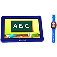 LINSAY NEW F7KBWB 7 Kids Tablet Blue Bundle With 1.5 Smart Watch Kids Cam Selfie Blue up to 32GB