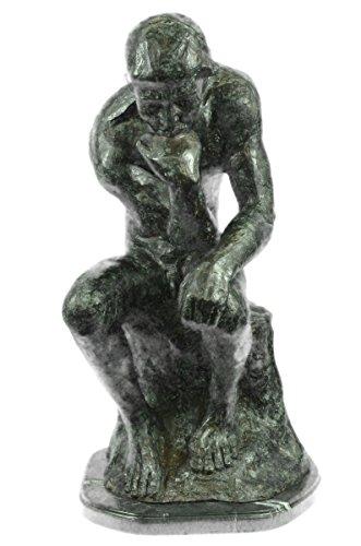 (Handmade European Bronze Sculpture Massive Extra Large Rodin Thinker Famous Work Artwork Marble NR Bronze Statue -JP55878-Decor Collectible Gift)
