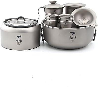 Keith Ti3900 - Juego de té de titanio para exteriores y mesa ...