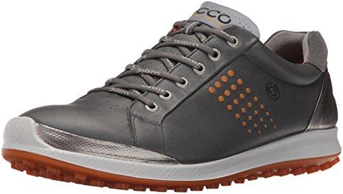 ECCO Men's Biom Hybrid 2 Golf Shoe, Dark Shadow/Orange, 45 EU/11-11.5 M US