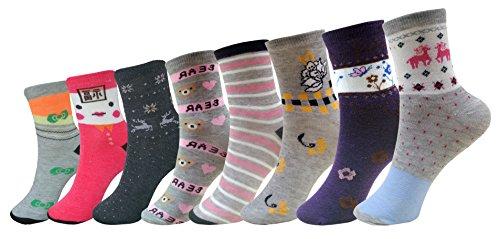 Jack   Ginni Designer Multicolour Ankle Length Socks   8 Pair Pack