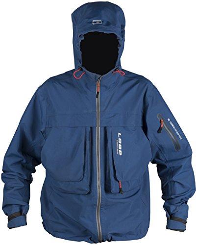 LOOP Lanio Wading Rain Jacket (Small, Swedish Blue)
