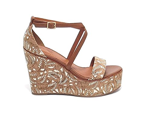 What Cuir For Femme Marron Sandales Pour RSHPqSUY