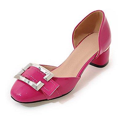 LvYuan Mujer-Tacón Robusto-Zapatos del club-Sandalias-Boda Vestido Fiesta y Noche-Cuero Patentado-Negro Rojo Blanco Gris Melocotón gray