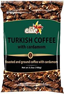 - Elite Turkish Coffee with Cardamom, 3.5 oz (3 Pack)