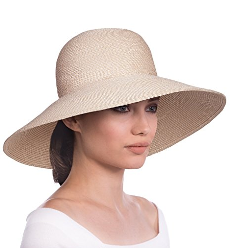 Eric Javits Luxury Fashion Designer Women's Headwear Hat - Bella - Cream by Eric Javits
