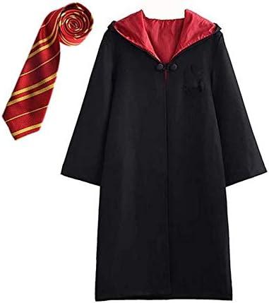 Disfraz de Harry Potter para niño Adulto Unisex Capa Disfraz Cosplay Conjunto Traje Varita mágica Corbata Bufanda Gafas Gafas Marco Sombrero Camisa de roca Carnaval Disfraz Carnaval Halloween 105-195