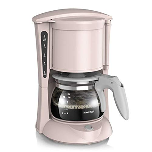 JINRU Coffee Maker,Drip Coffee Maker with Glass Carafe and One Touch Button,with Automatic Power Off Insulation,Pink