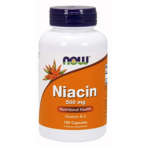 Now Niacin 500 mg 100 Capsules