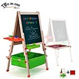 Best Easel For Kids - Gimilife Deluxe Easel for Kids, Folding Wooden Art Review