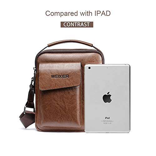 Universal Fashion Perfunctory Men Shoulder Messenger Bag Handbag Outside Bag MUMUWU Sizing: S 22cm x 18cm x 6cm Color : Khaki