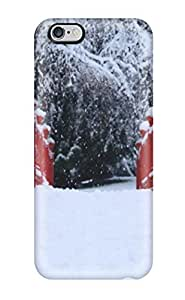 iphone 5C Case Cover - Slim Fit Tpu Protector Shock Absorbent Case (snowy Bridge)