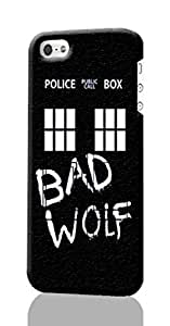 SUUER Doctor Who TARDIS Bad Wolf iPhone 4 4S Case , Designer Personalized Custom Plastic Hard CASE for iPhone 4 4S Durable New Style ROUGH Skin 3D Case Cover by ruishername