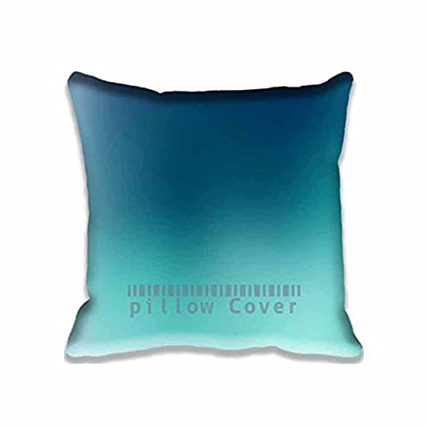 Sky Blue Cloudy Gradation Blur Square Digital Printed Cushion Cover Throw Pillow Case Pillow Sham For Decor Decorative Home Sofa Bedroom (Hot Pictures For Bedroom)