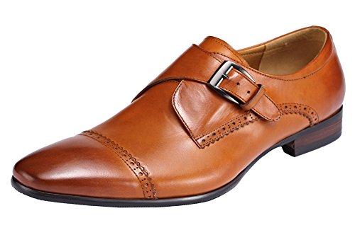 Escarpin À Vent Royal Bout Genou En Cuir Geninue Plat Chaussures Oxford Marron